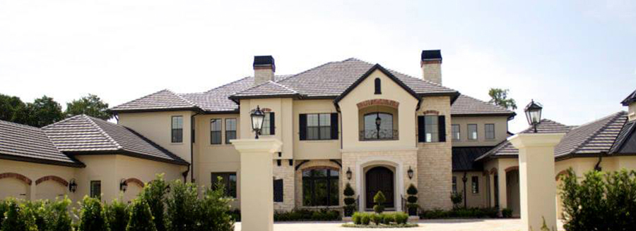 Tile roof on large home