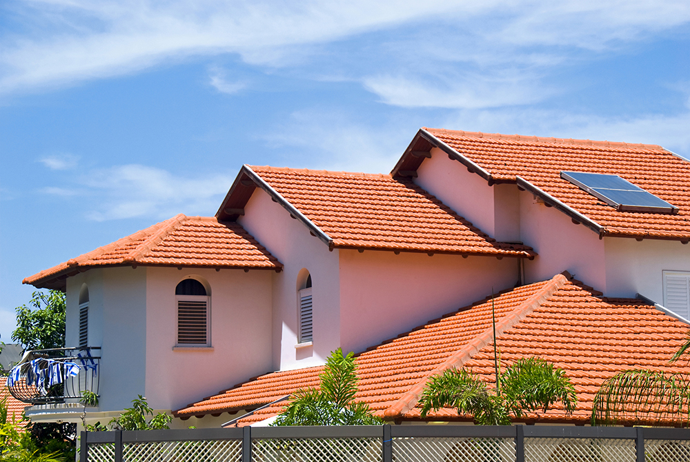 Beautiful tile roof home