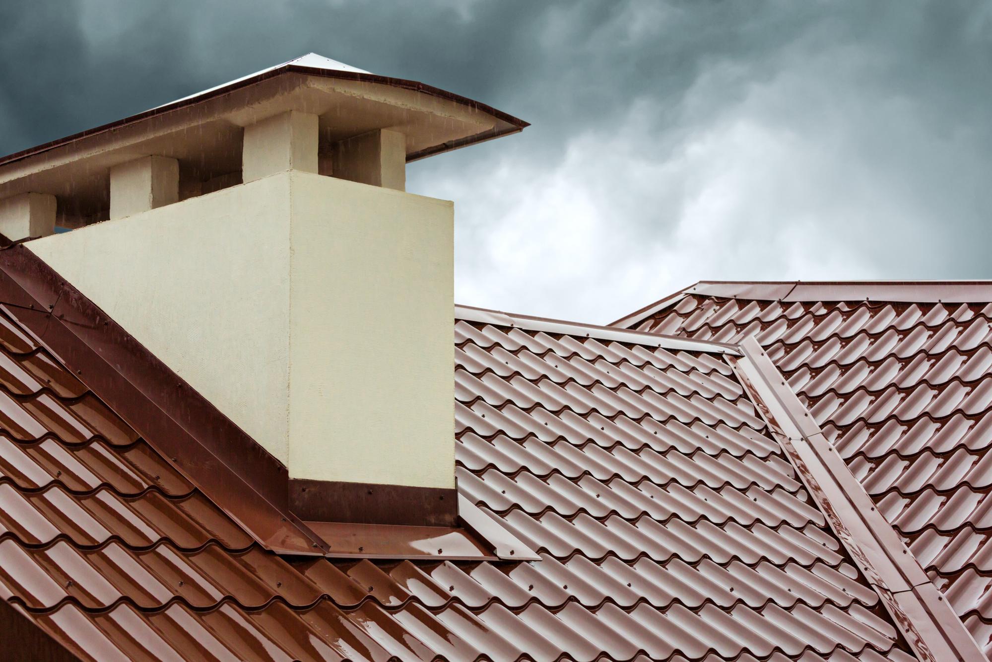 Rain over roof