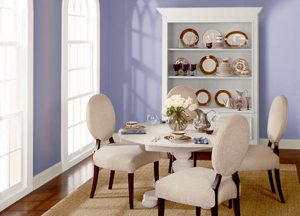 Violet Aura Diningroom